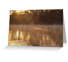 A little sunlight on a frosty morning Greeting Card