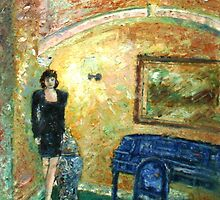 Girl in interior by Noel McMahon