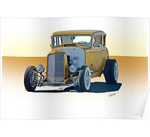 1932 Ford Coupe 'Golden Rule' Poster