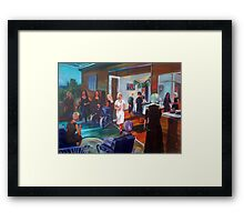 Tina's surprise 40th Birthday - Commission Framed Print