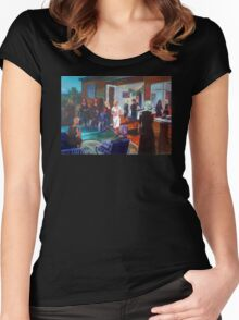 Tina's surprise 40th Birthday - Commission Women's Fitted Scoop T-Shirt