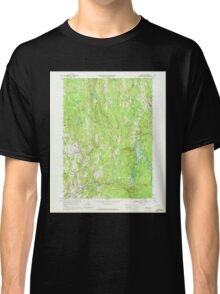 Massachusetts  USGS Historical Topo Map MA Barre 349984 1969 24000 Classic T-Shirt