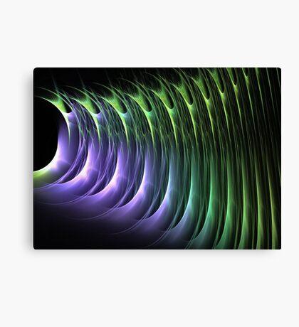 Shining green and purple Canvas Print