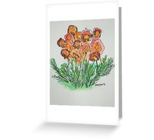 Flowers for July Greeting Card