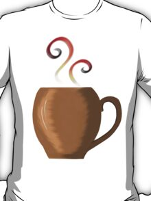 Brown cup of fresh coffee or tea T-Shirt