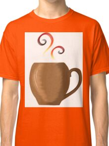 Brown cup of fresh coffee or tea Classic T-Shirt