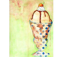 Ice Cream Sundae Photographic Print