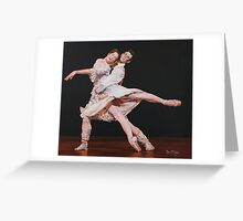 Darcy Bussell and Roberto Bolle dancing Manon. Greeting Card