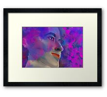 Retro fashion portrait Framed Print
