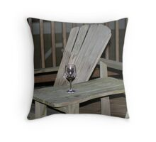 Wine in the Evening Throw Pillow
