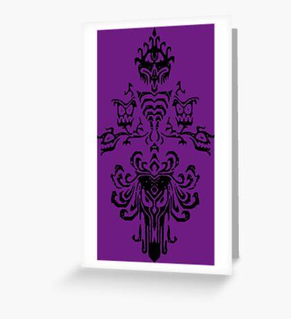 Haunted Mansion Wallpaper Design                         Greeting Card
