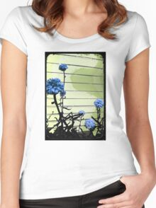 blue carnations Women's Fitted Scoop T-Shirt