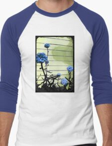 blue carnations Men's Baseball ¾ T-Shirt