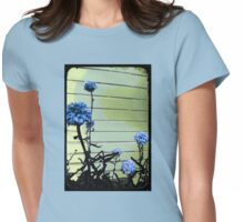 blue carnations Womens Fitted T-Shirt