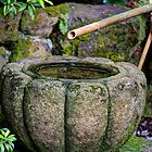 Japanese Garden Stone and Bamboo  by jvoweaver