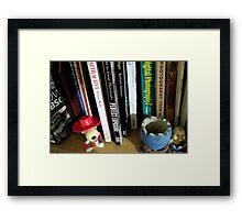 the bookshelf - photography corner Framed Print