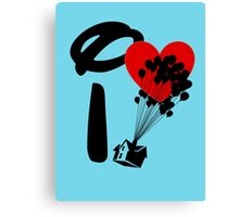 I Heart Adventure Canvas Print