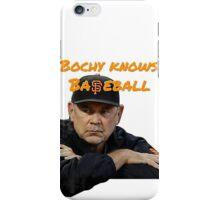 Bochy Knows Baseball (Dark Version) iPhone Case/Skin