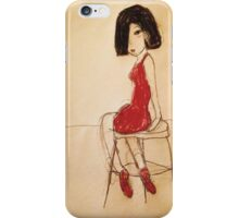 The Red Dress iPhone Case/Skin