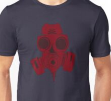 Gas mask RED halftone Unisex T-Shirt