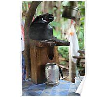 Costa Rican Coffee Pot Poster