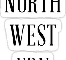 Northwesterner - Arrows Out Sticker