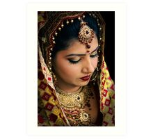 Beautiful Bride Saloni-I Art Print