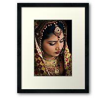 Beautiful Bride Saloni-I Framed Print