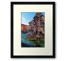 Pantheon Fountain Framed Print