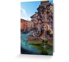 Pantheon Fountain Greeting Card