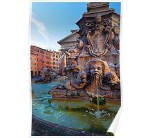 Pantheon Fountain Poster