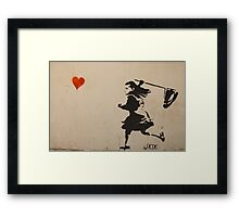 Catching Love Framed Print