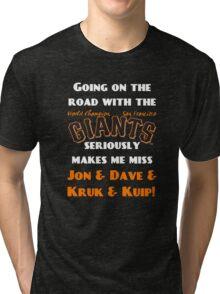 SF Giants Fans AWAY game shirt (for black or gray) Tri-blend T-Shirt