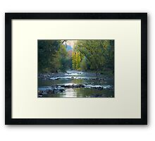 Very early morning at Bright in Victoria Framed Print