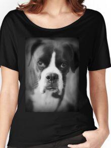 Arwen's Portrait - Female Boxer - Boxer Dogs Series Women's Relaxed Fit T-Shirt
