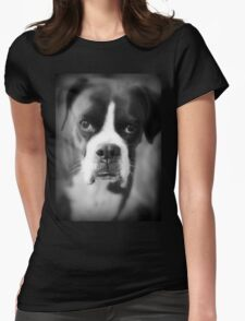 Arwen's Portrait - Female Boxer - Boxer Dogs Series Womens Fitted T-Shirt