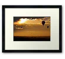 Golden moment of serenity Framed Print