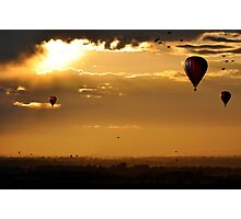Golden moment of serenity Photographic Print
