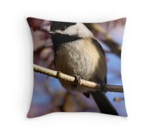 Chickadee: Under a Warming Sun Throw Pillow