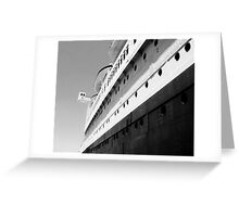 Queen Mary Departs  Greeting Card