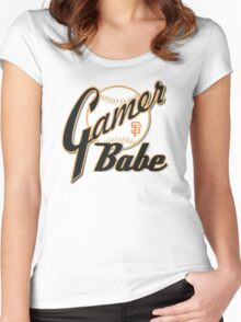 SF Giants Gamer Babe Women's Fitted Scoop T-Shirt