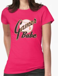 SF Giants Gamer Babe Womens Fitted T-Shirt
