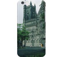 Facade from south Nidaros Trondheim Norway 19840622 0010m iPhone Case/Skin