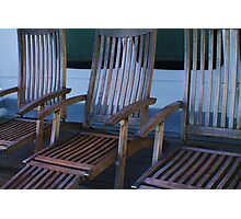 Deck Chairs Photographic Print