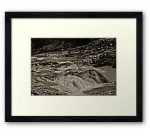 5 star ***** .Nesselva Waterfalls . Norway.Brown Sugar Story. Framed Print