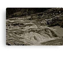 5 star ***** .Nesselva Waterfalls . Norway.Brown Sugar Story. Canvas Print