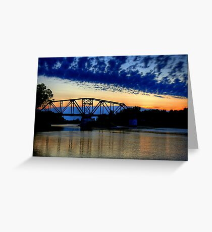 Sunset over the Taylor Bridge Greeting Card