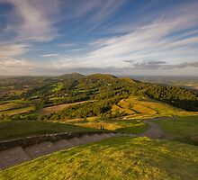 Sunset From British Camp - The Malvern Hills by Douglas  Latham