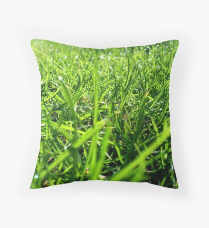 Why should I cut the grass? Throw Pillow