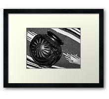 Black Pottery Framed Print